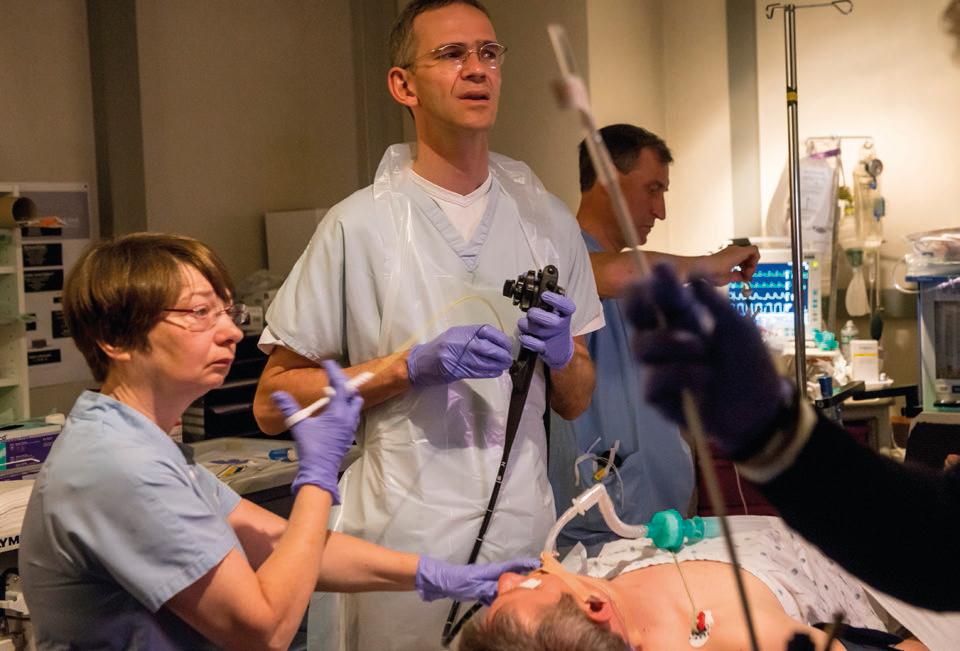 Endoscopische inspectie van het Barrett-slijmvlies