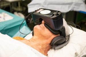 VR-bril bij de plaatsing van poortkatheters